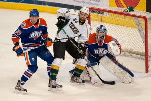 Stars vs. Oklahoma City Barons. Cox Convention Center, Oklahoma City, OK. 12-31-12.