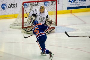San Antonio vs. Oklahoma City Barons. Cox Convention Center, Oklahoma City, OK. 1-18-13.