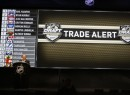 June 22, 2012; Pittsburgh, PA, USA; NHL Commissioner Gary Bettman announces a trade between the Carolina Hurricanes and the Pittsburgh Penguins for the eighth overall pick at the 2012 NHL Draft at CONSOL Energy Center.  Mandatory Credit: Charles LeClaire-US PRESSWIRE