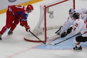 IIHF U20 World Championship 2013  RUS - SUI Anton Slepyshev, Dario Simion, Melvin Nyffeler