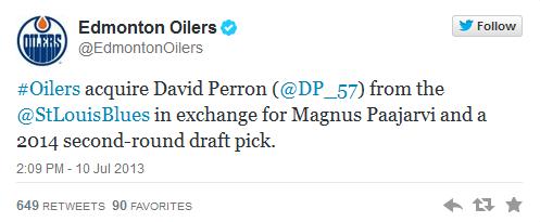 perron trade oilers