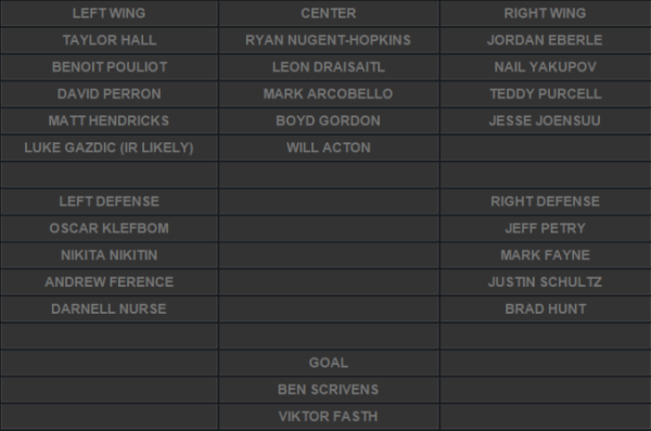 last year's roster